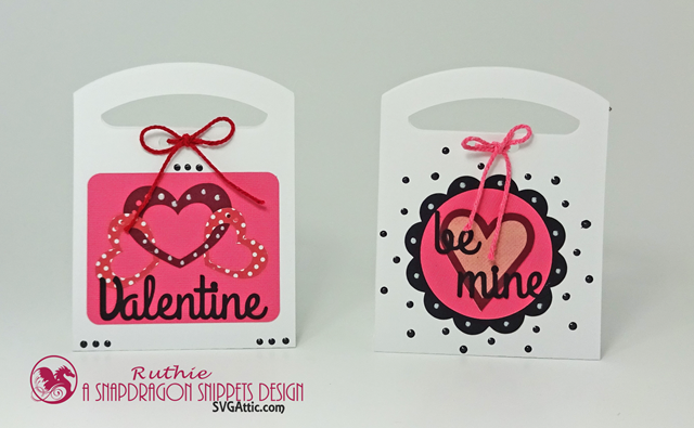 Valentine Tote Candy Box,  Valentine Tote Candy Be Mine Box, Ruthie Lopez, SnapDragon Snippets