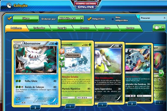 Pokémon TCGO Coleção