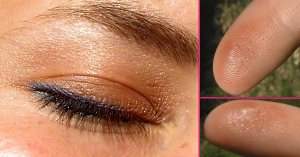 guerlain terracotta blush and sun 02 sun kissed - Свотчи на глазах и пальцах