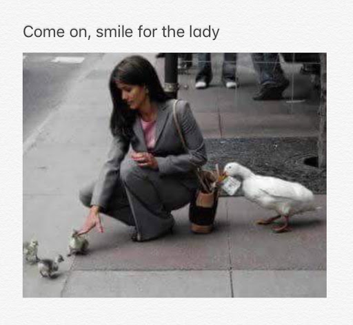 Come on smile for the lady