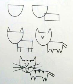 تعليم رسم القطه للأطفال بطريقه سهله تسامح