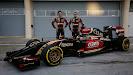 Lotus E22 Official Reveal Romain Grosjean & Pastor Maldonado