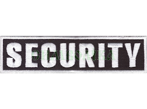 Security 120х30мм/ нагрудний напис/ вишитий/ чорно-білий