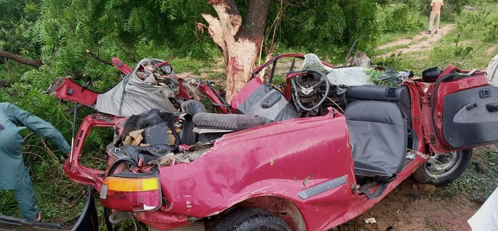 Five Killed As Car Rams Into Tree In Adamawa (Photos