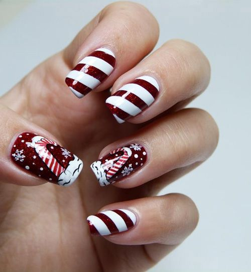 White and maroon nail art designs fashionte post navigation prinsesfo Images