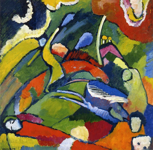 Wassily Kandinsky – Two riders and reclining figure