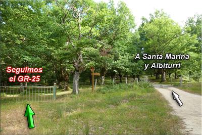 A Santa Marina y Albiturri, de frente