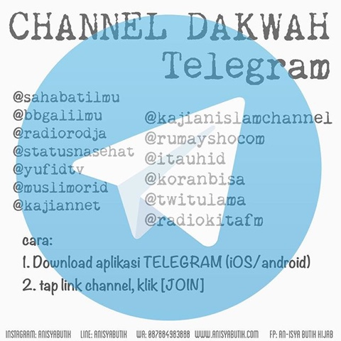 Channel telegram salafy indonesia. telegram must user channels.