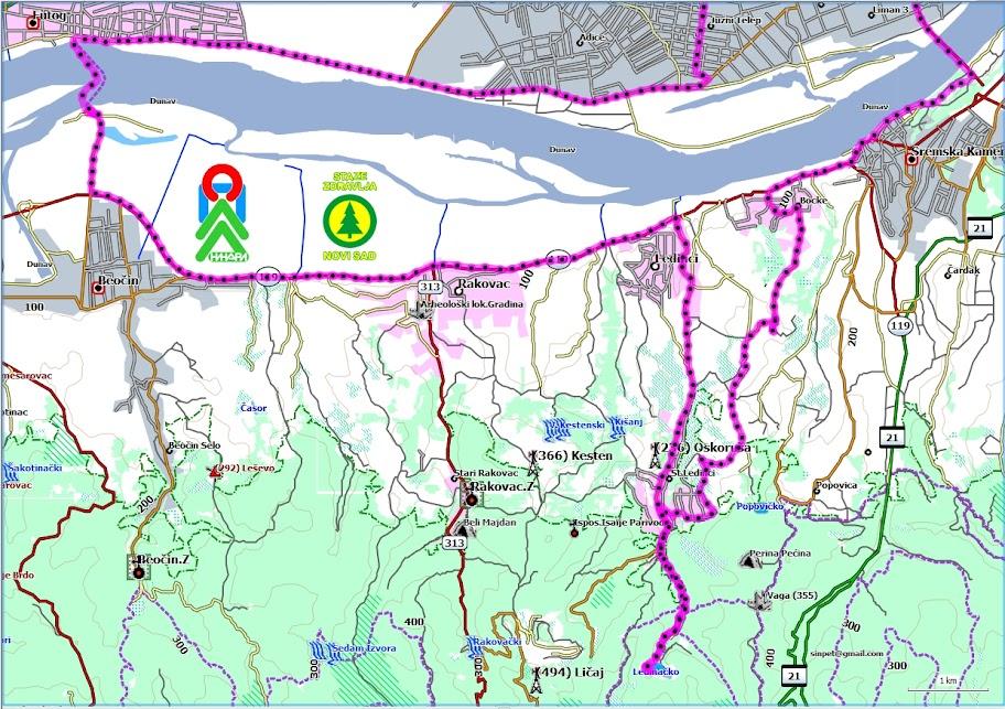 dvorci vojvodine mapa Kupanje na Ledinačkom jezeru i plaži kod Beočina   Staze zdravlja dvorci vojvodine mapa