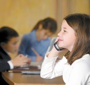 estudiante con celular