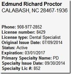 Edmund R Proctor DDS