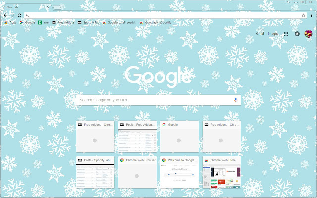 Winter snow flakes theme chrome web store - Winter theme chrome ...