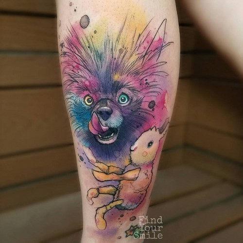 este_cachorro_louco_retrato_em_aquarela_tatuagem
