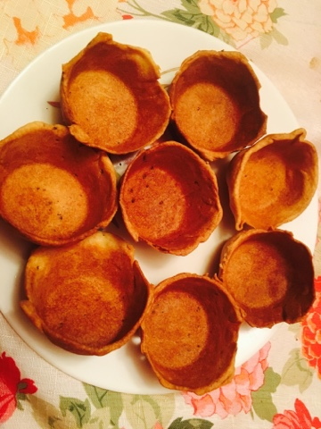 Yummy food in tummy baked canapes cup katori for Canape fillings indian