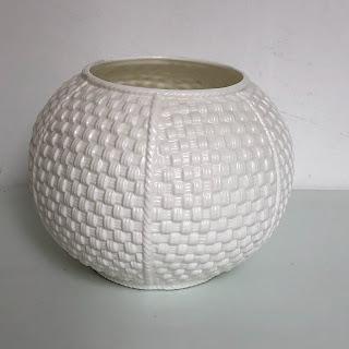 Tiffany & Co. Porcelain Basket Vase