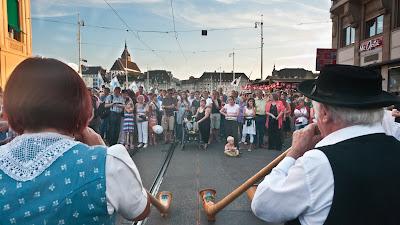 Alphornklänger gehören natürlich zum Schweizer Nationalfeiertag dazu ...
