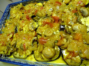Transylvanian Eggplant Casserole: from Moosewood