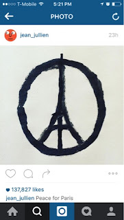 Jean Jullien Peace for Paris