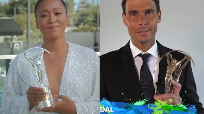 Rafael Nadal And Naomi Osaka Win Laureus World Sports Man/Woman Of The Year (Full Awards List)