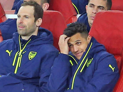 Cech Explains Why Sanchez Was Laughing On Bench Against Bayern