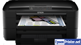 How to reset flashing lights for Epson WorkForce WF-7011 printer