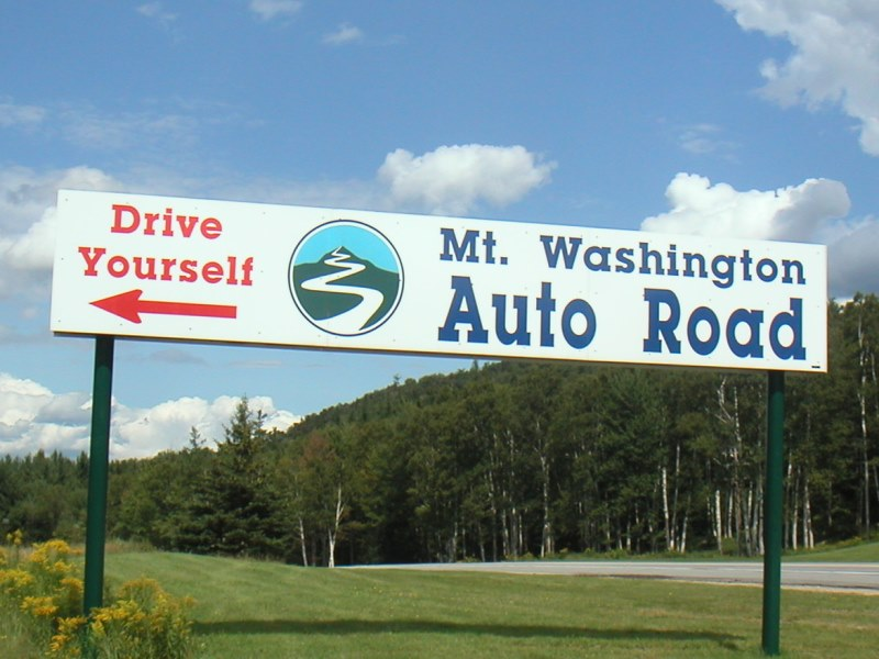 Mount Washington Hillclimb • Auto Road Sign
