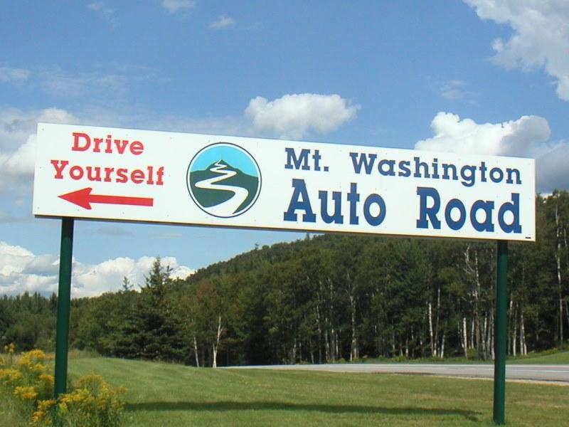 Mount Washington Hillclimb • Auto Road Sign