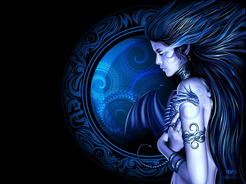 Dragon Puple Demon Girl, Demonesses