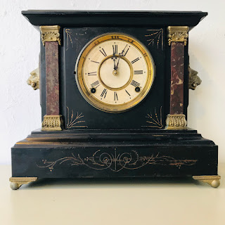 Cast Iron Mantle Clock