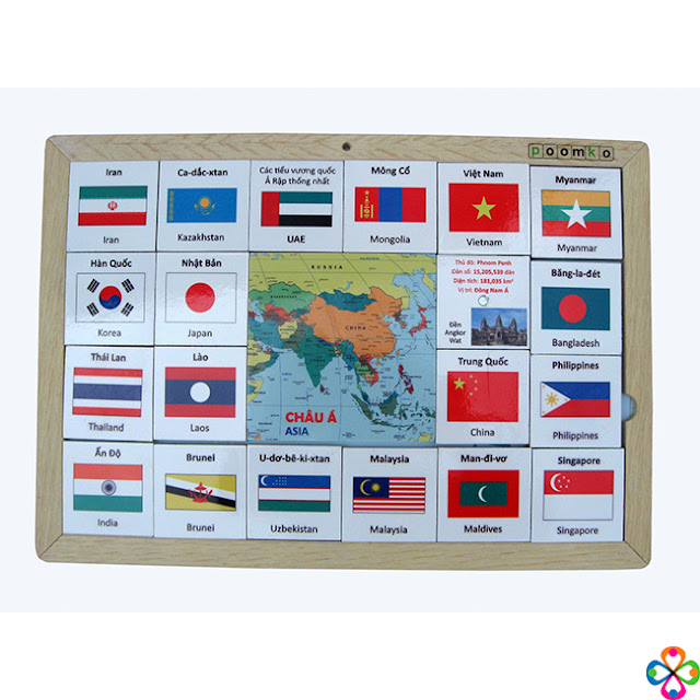 Bộ Cờ Quốc tế Châu Á Poomko EB02.12 sản xuất tại Việt Nam