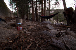 Camping at the top of the Grey Peak Fork