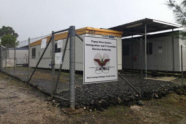 "Outside the East Lorengau Refugee Transit Centre and West Lorengau Haus in Papua New Guinea, 8 November 2017. PNG's Chief Justice found the alternative accommodation was ""of good standard"". Photo: PNG Federal Government"