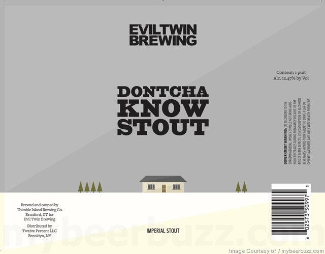 Evil Twin Adding B Is For Blueberry & Dontcha Know Stout