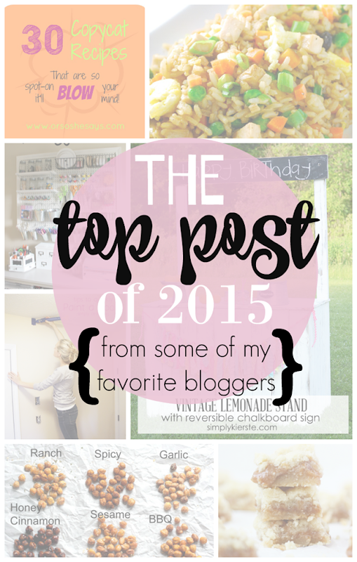 THE top post of 2015 from some of my favorite bloggers at GingerSnapCrafts.com