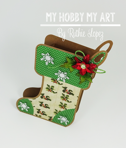 Stocking Box, The Cutting Cafe, Ruthie Lopez, Navidad. 4