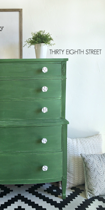 Furniture Makeover With Tavern Green Milk Paint