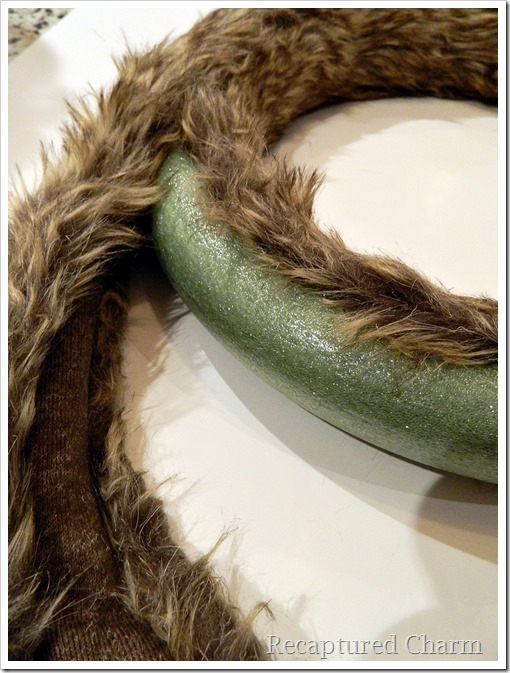 faux fur antler wreath 9
