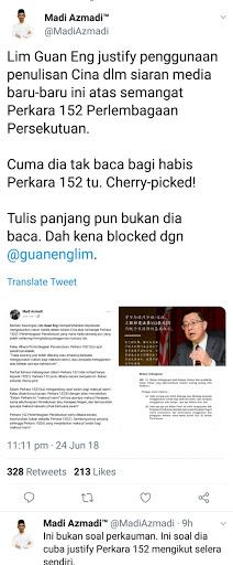 Isu Bahasa, Guang Eng degil akhirnya kena kecam teruk dengan netizen