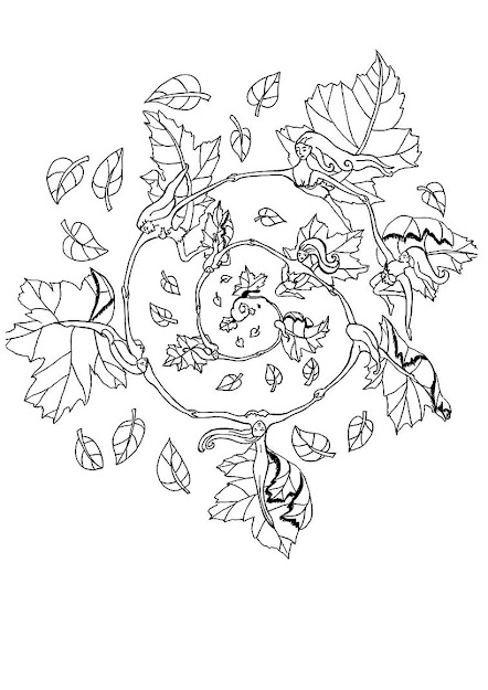 Rose Elf Mandala Fall Elf Mandala  Coloring Page  Mandala Coloring Pages   Elf Mandalas