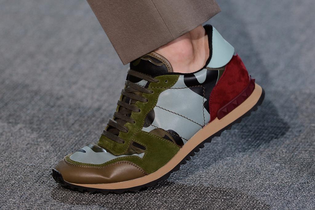 *Valentino 2013春夏軍事迷彩系列:麂皮鉚釘迷彩拼接鞋! 11