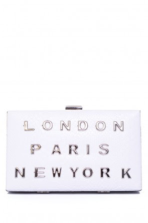 Lulu City Break Box Clutch in White, €35.00