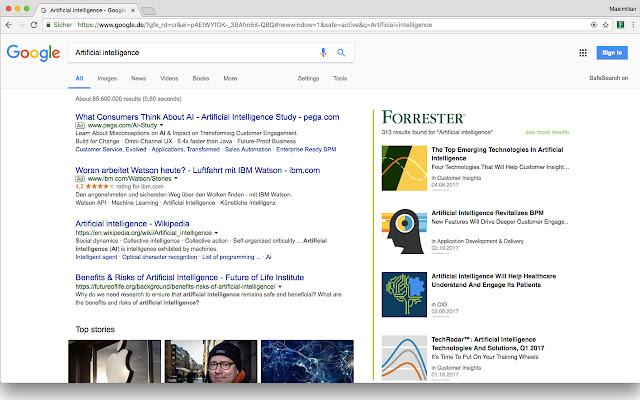 Forrester / Google Search Integration