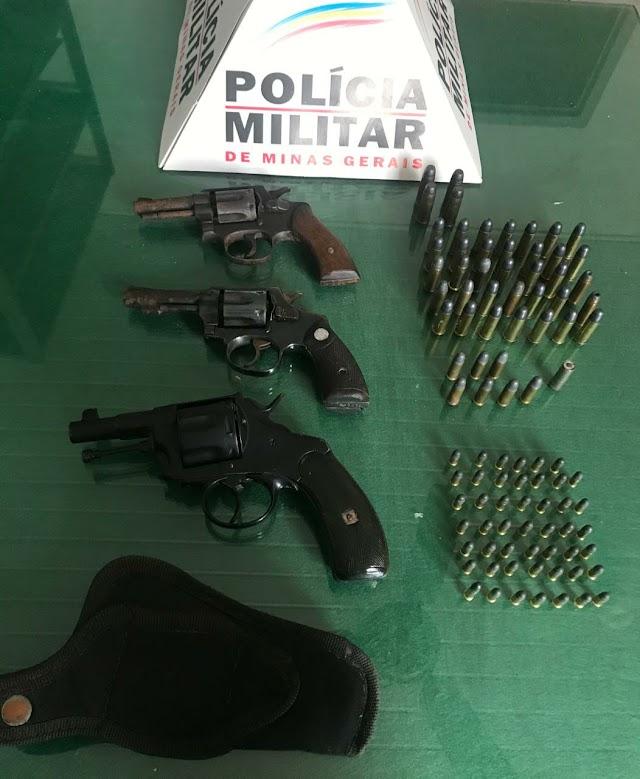 Homem é preso em Orizânia com 3 armas de fogo e 95 Munições