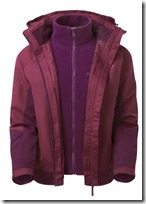Womens Hi Gear 3 in 1 jacket