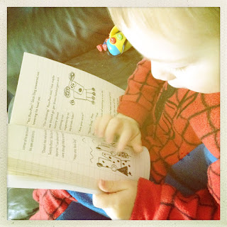 Blake Clement reading Stick Dog review on Emma in Bromley