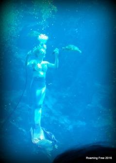 Drinking a pop underwater