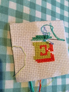 Cross Stitch Monogram E
