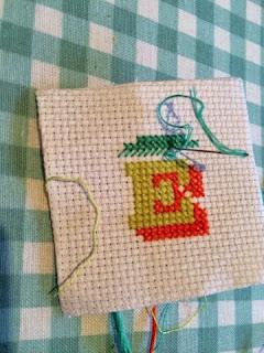 Cross Stitch Monogram E