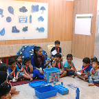 Blue Day Celebration by Nursery Section 2017-18 at Witty World, Bangur Nagar