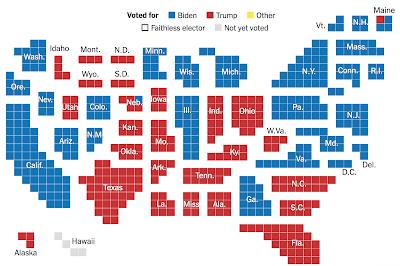 Colégio Eleitoral confirma vitória de Joe Biden como presidente eleito dos EUA